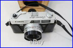 Vintage Canon Canonet QL25 35mm Rangefinder Film Camera with 45mm Lens