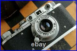 Vintage Film Leica camera D. R. P Lens Elmar f3.5/50mm Silver (FED Copy)
