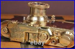 Vintage Film Leica camera Panzerkampf Lens Elmar f3.5/50mm FED / Zorki Copy