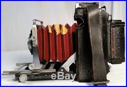 Vintage Graflex Century Folding Camera Range Finder 23 Graphic Film Red Bellows