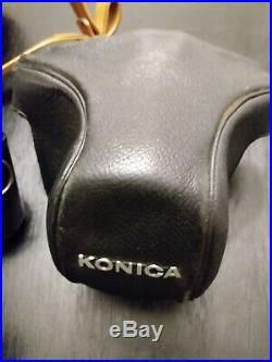 Vintage Konica IIIA III A Rangefinder Film Camera Hexanon 48mm F12 JAPAN LOT