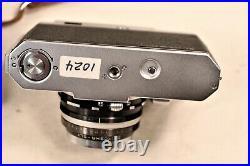Vintage Konica IIIM III M 35mm Rangefinder camera Hexanon 50mm f1.8 Japan w. Case