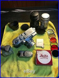 Vintage LEICA M3 CHROME SINGLE-STROKE 35mm RANGEFINDER FILM CAMERA