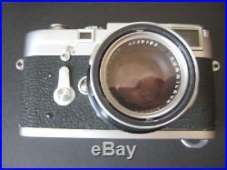 Vintage LEICA M3 Camera with LEITZ SUMMICRON 1 2/50 Lens