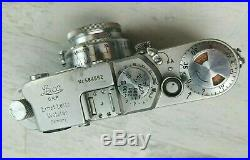 Vintage Leica D. R. P. Ernst Leitz Wetzlar Camera with Original Leather Case 1950's