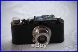 Vintage Leica II Conversion (1929) with filters, hood and halfcase