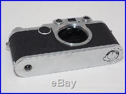 Vintage Leica IIC / IIF conversion 35mm Rangefinder camera. Leica M39 lens