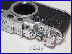 Vintage Leica IIF red dial Rangefinder camera. Leica M39 Tread Mount Lenses