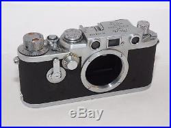 Vintage Leica IIIC/IIIF Self Timer 35mm film rangefinder camera. Leica M39 lense