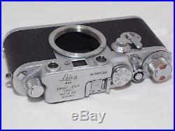 Vintage Leica IIIF Self Timer 35mm film rangefinder camera Classic Leica M39 len