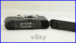 Vintage Leica Iiif Red Dial Camera Body With Original Instruction Manual 1950-56