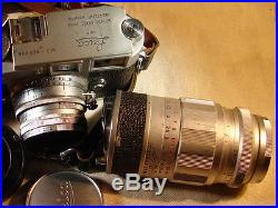 Vintage Leica M3 Classic Rangefinder 35mm Film Camera 2 Lenses