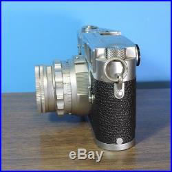 Vintage Leica M3 DBP Camera with Summicron Ernst Leitz Wetzlar Lens f=5cm 12