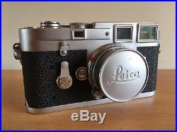 Vintage'Leica M3', Double Stroke Camera, Elmar 12.8/50mm Lens-VGC