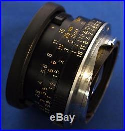 Vintage Leitz Wetzlar Germany Summicron-C 12/40 Rangefinder Camera Lens