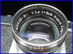 Vintage Nikon Nippon Kogaku Nikkor Camera S. C SC 11.4 f=5cm with Case Japan