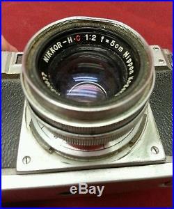 Vintage Nikon S Camera Rangefinder RF Nippon Kogaku Japan Nikkor H C f=5cm Lens