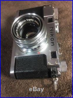 Vintage Nikon S Rangefinder Camera With Nippon NIKKOR-HC f2 5cm (50mm) Lens