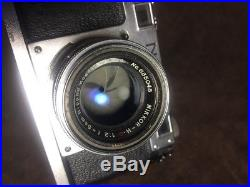 Vintage Nikon S Rangefinder Camera With Nippon NIKKOR-HC f2 5cm Lens