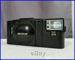 Vintage Olympus XA A11 35mm Rangefinder Black Film Camera