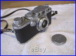 Vintage Rare Leica D. R. P. Ernts Leitz Wetzlar Camera 547100 Leather Strap