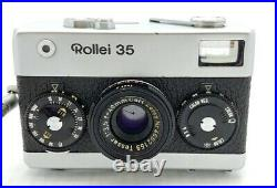 Vintage Rollei 35 Silver Film Camera with Tessar 40mm F/3.5 Lens Made in Germany