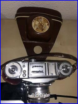 Vintage VOIGTLANDER PROMINENT CAMERA ULTRON 12/50 Syncro Compur 35mm Case Strap