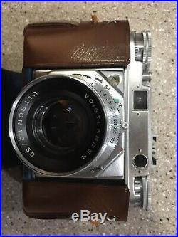 Vintage Voigtlander Prominent Camera + Ultron 12/50 Synchro Compur Lens & Case