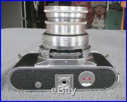 Vintage Voigtlander Prominent Rangefinder 35mm Camera with Dynaron 14.5/100 Lens