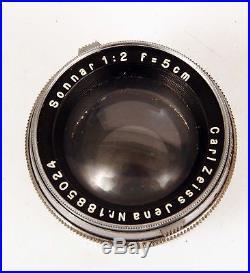 Vintage Zeiss Contax III Rangefinder Camera with Case & Three Zeiss Lenses