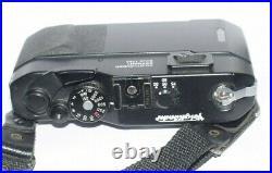 Voigtlander Bessa R2 Black Rangefinder 35mm Camera Cap Strap EX