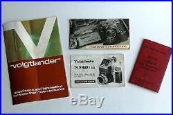Voigtlander Prominent Camera Nokton 50mm f/1.5 with MANY Extras