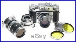 Voigtlander Prominent II Camera Ultron 12/50 Dynaron 14.5/100 Super- 14.5/150