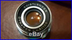 Voigtlander Prominent II withNOKTON f/1.5/50mm Lens, 2 additional lens, case