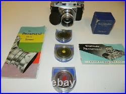 Voigtlander Prominent Nokton 1.5/50 lens Camera 3 LENS filters Germany bundle