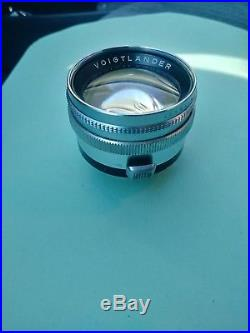 Voigtlander Prominent Rangefinder Camera With Nokton 50mm f/1.5 Lens
