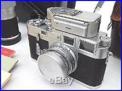Vtg. 1955 Leica M3 Camera Rangefinder Film Ernst Leitz Lens Manual Light Meter