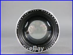 Vtg CARL ZEISS JENA SONNAR Camera Lens 12.5 f=8.5cm 85mm CONTAX Rangefinder