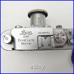 Vtg Leica IIIA 1938 Rangefinder camera & 5cm F/3.5 Lens Germany made Works great