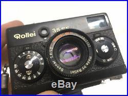 Vtg ROLLEI 35 SE Film CAMERA+SONNAR 40mm f2.8 LENS+CAP+CASE+TRIPOD