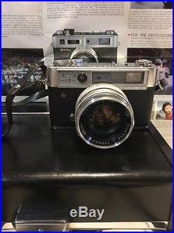 YASHICA IC LYNX 14E WITH YASHINON DX 45mm f1.4 LENS, Case Auxiliary Lens Ect