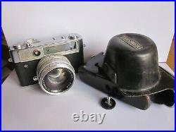 Yashica IC Lynx 14E Rangefinder Camera 45mm f1.4 Yashinon lens & Case. Read