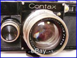 ZEISS CONTAX CAMERA 1f If black SONNAR 1.5 HARRY RHOADS DENVER PHOTOGRAPHER