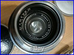 Zeiss Ikon CONTAX II Film Camera biogon Opton sonnar lens distar jena Germany