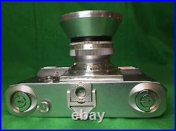 Zeiss Ikon CONTAX III Rangefinder 35mm RF Camera with lens and rare metal hood