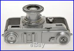 Zeiss Ikon Contax II RF camera with 50/2.8 Tessar works, exc+++