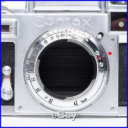 Zeiss Ikon Contax IIIA Rangefinder 35mm SLR Film Camera 50mm F1.5 Sonnar Lens