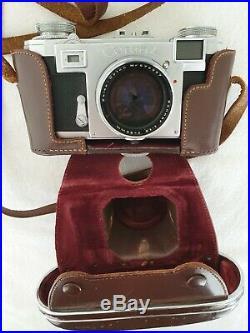 Zeiss Ikon Contax IIa mit Sonnar T 11,5 50mm + originale Contax Schutzhülle