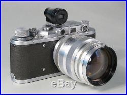 Zorki-1 E (russische Leica-Kopie) mit Jupiter-9 85 mm 12, Baujahr etwa 1955-56