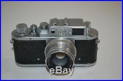 Zorki-3M, RARE Vintage 1955 Soviet Rangefinder Camera & Case. 5574350. UK Sale
